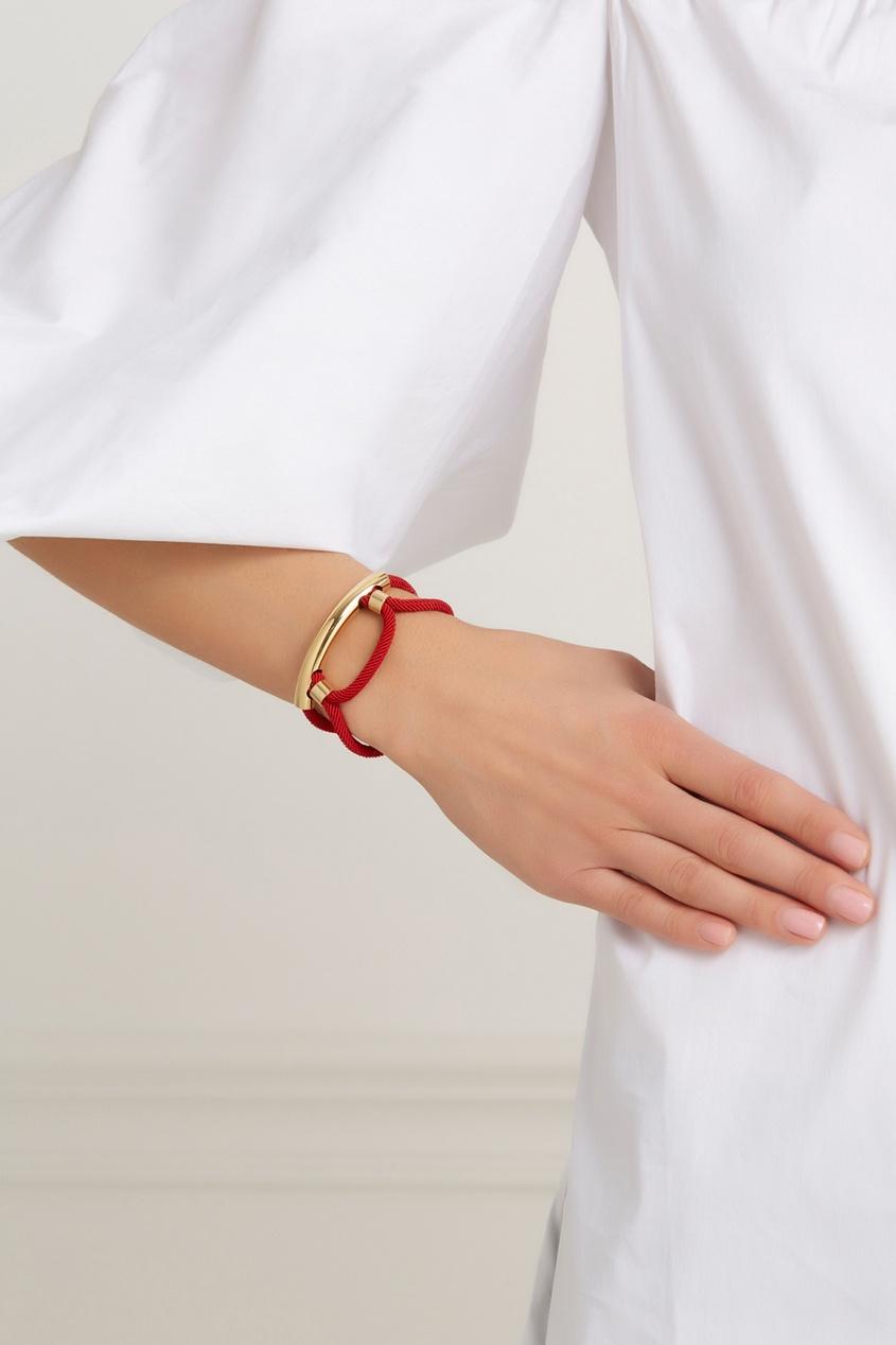 Фото - Браслет Thin Cordage из латуни с позолотой от Marion Vidal красного цвета