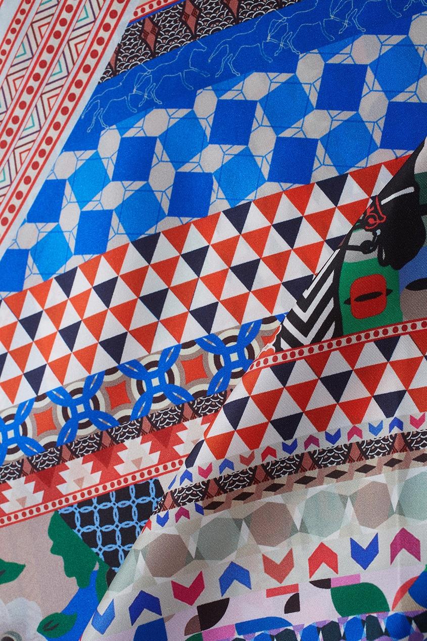 Фото 4 - Шелковый плато «Фаворит» от Radical Chic цвет multicolor
