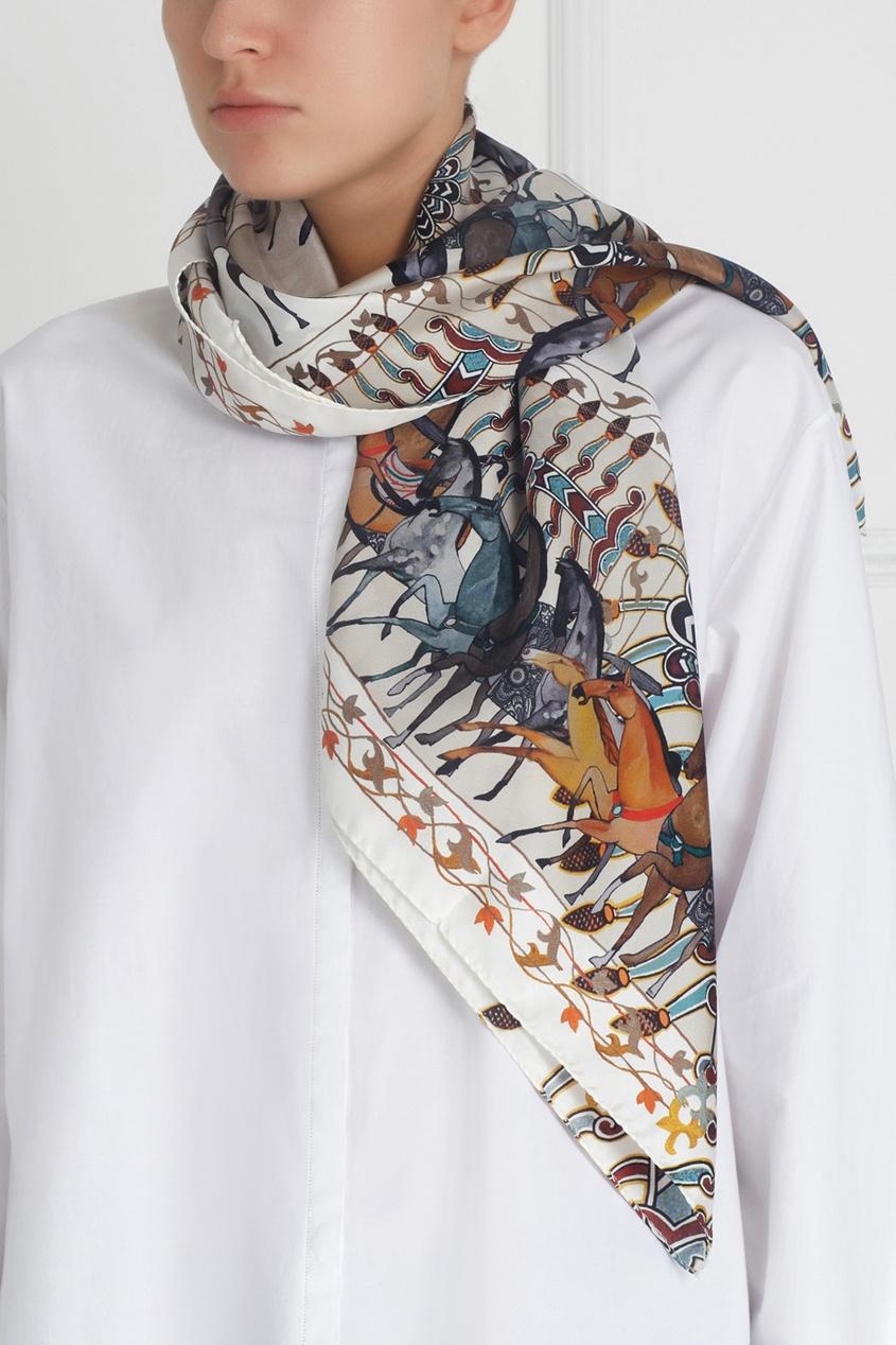 Шелковый платок «Бег»