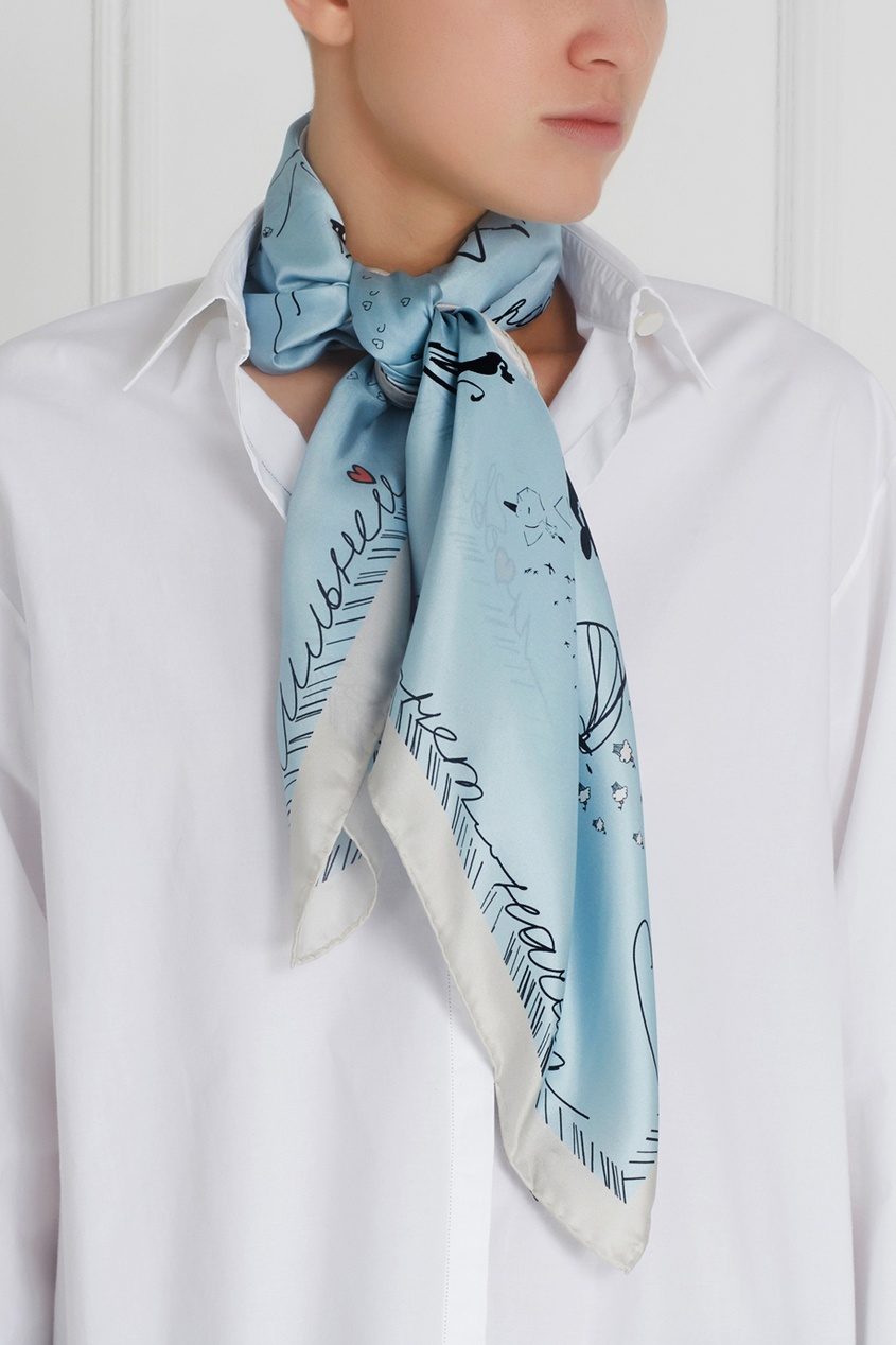 Шелковый платок «Рандеву»
