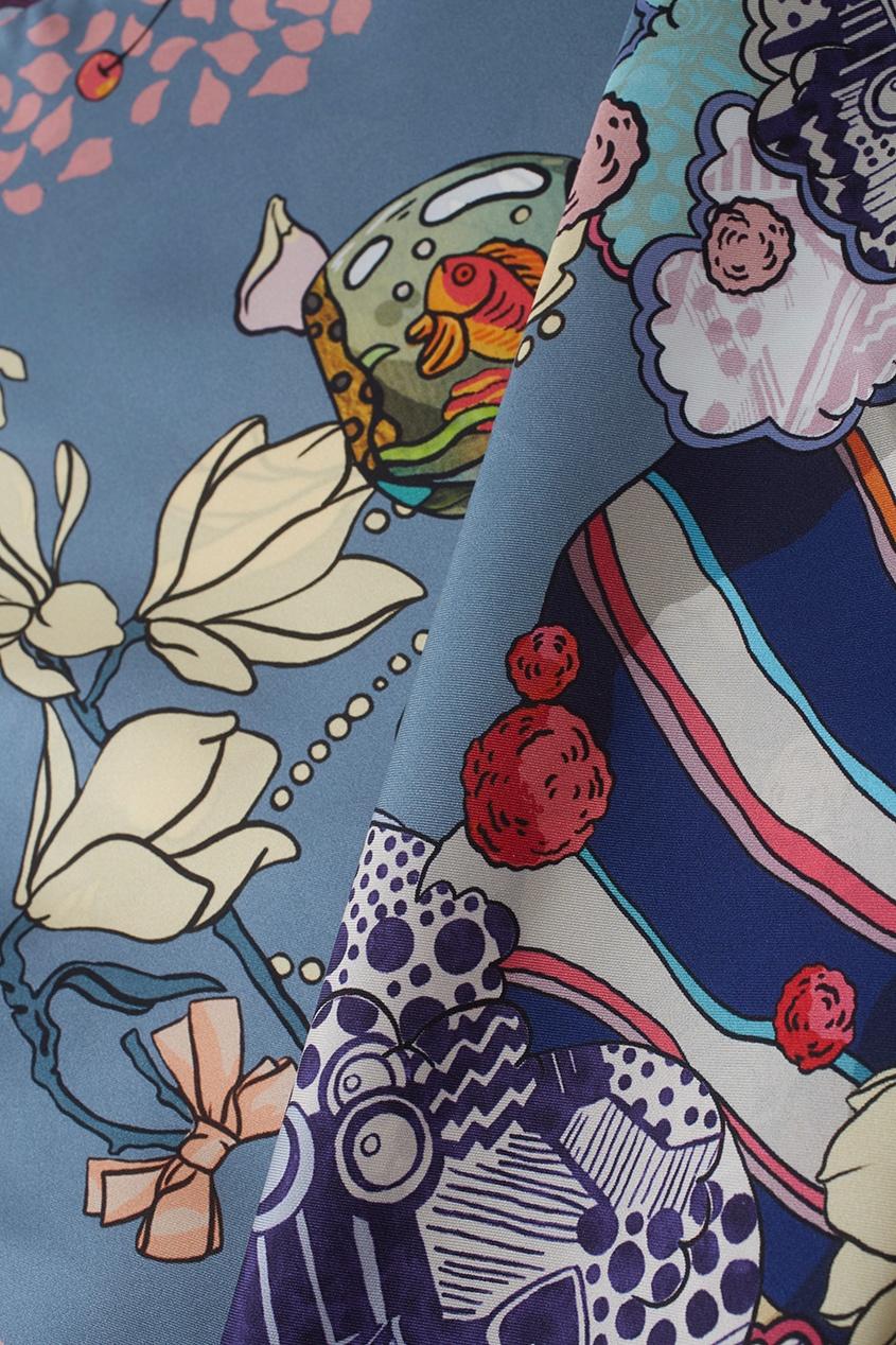 Фото 3 - Шелковый платок «After party» от Radical Chic цвет multicolor