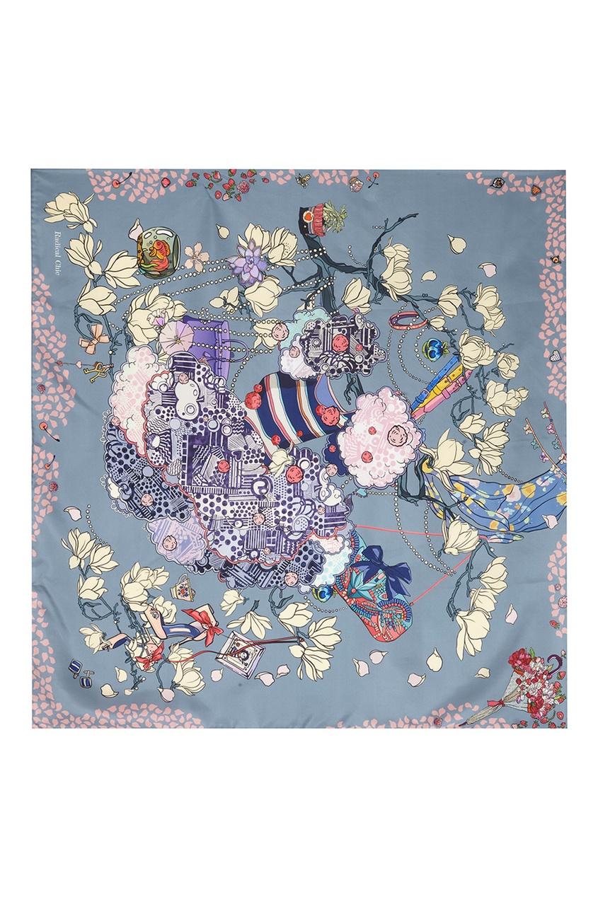 Фото 4 - Шелковый платок «After party» от Radical Chic цвет multicolor