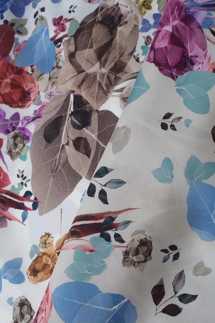 Фото 3 - Шелковый платок «Капри» от Radical Chic цвет multicolor