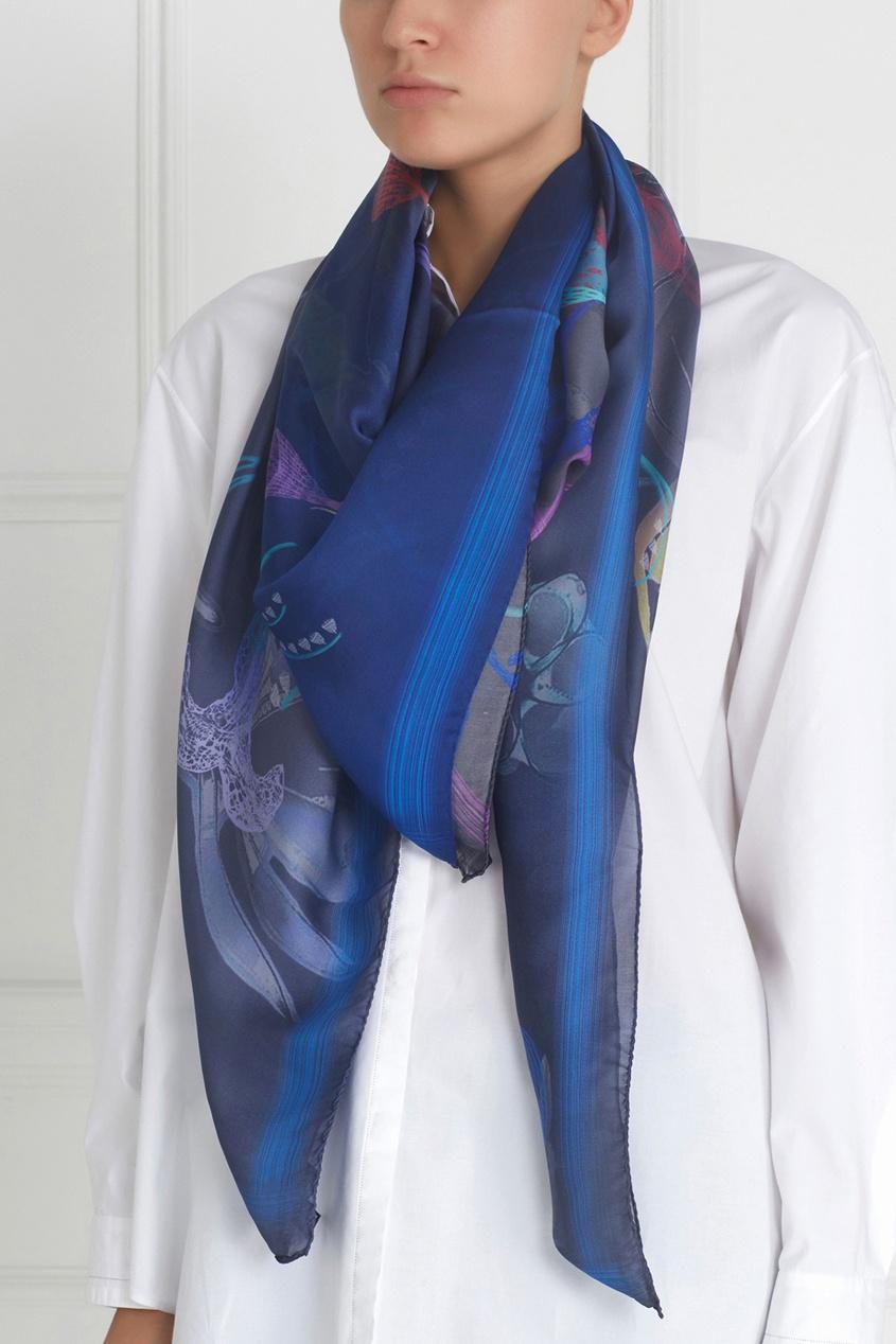 Фото - Шелковый платок «Вуаль» от Radical Chic цвет multicolor