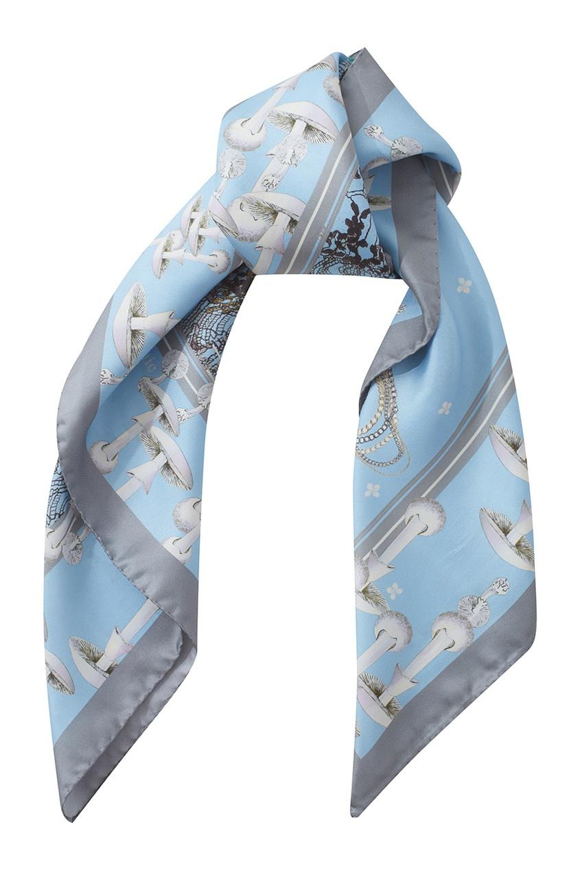 Фото 3 - Шелковый платок «Подиум» от Radical Chic цвет multicolor