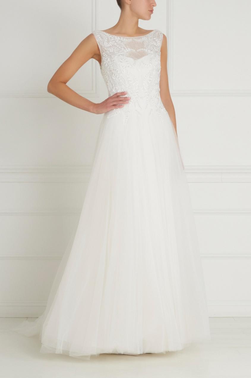 Фото - Платье с вышивкой от Tony Ward белого цвета