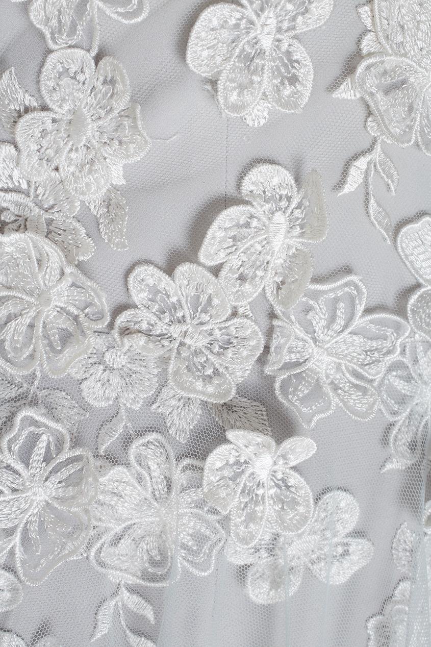 Фото 4 - Платье-бюстье в пол от Tony Ward серебрянного цвета