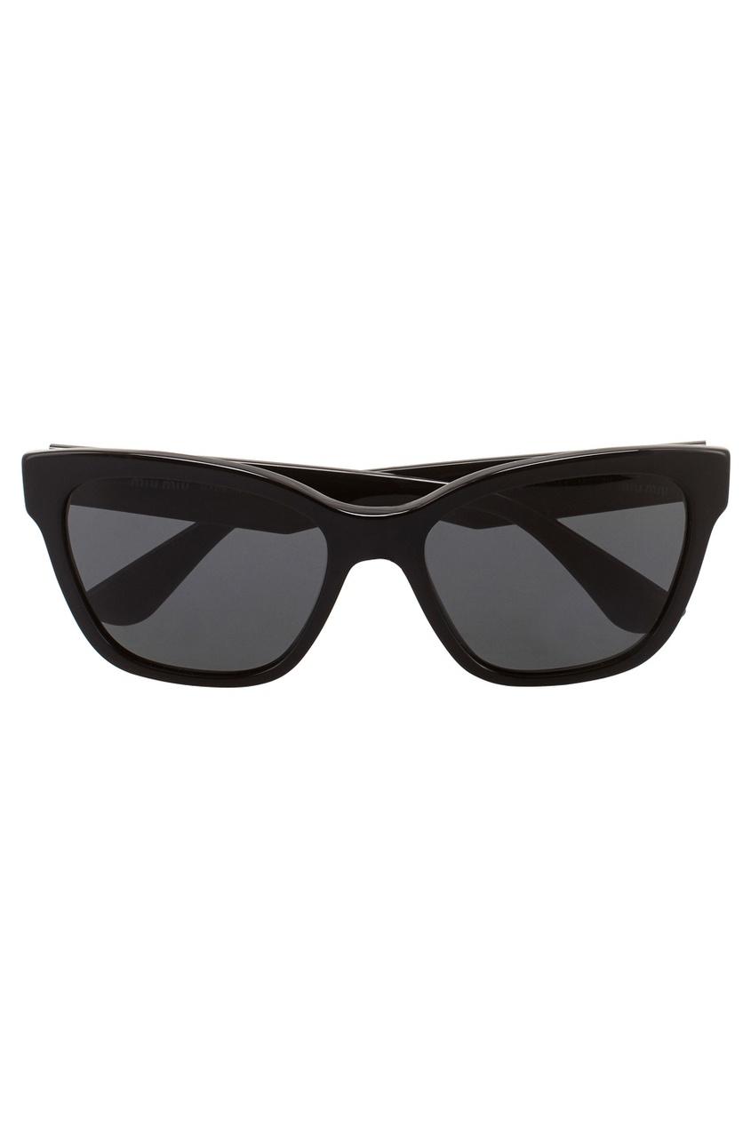Miu Miu Солнцезащитные очки vogue vogel очки черного кадра серебряного покрытия линза мода полной оправе очки vo5067sd w44s6g 56мм