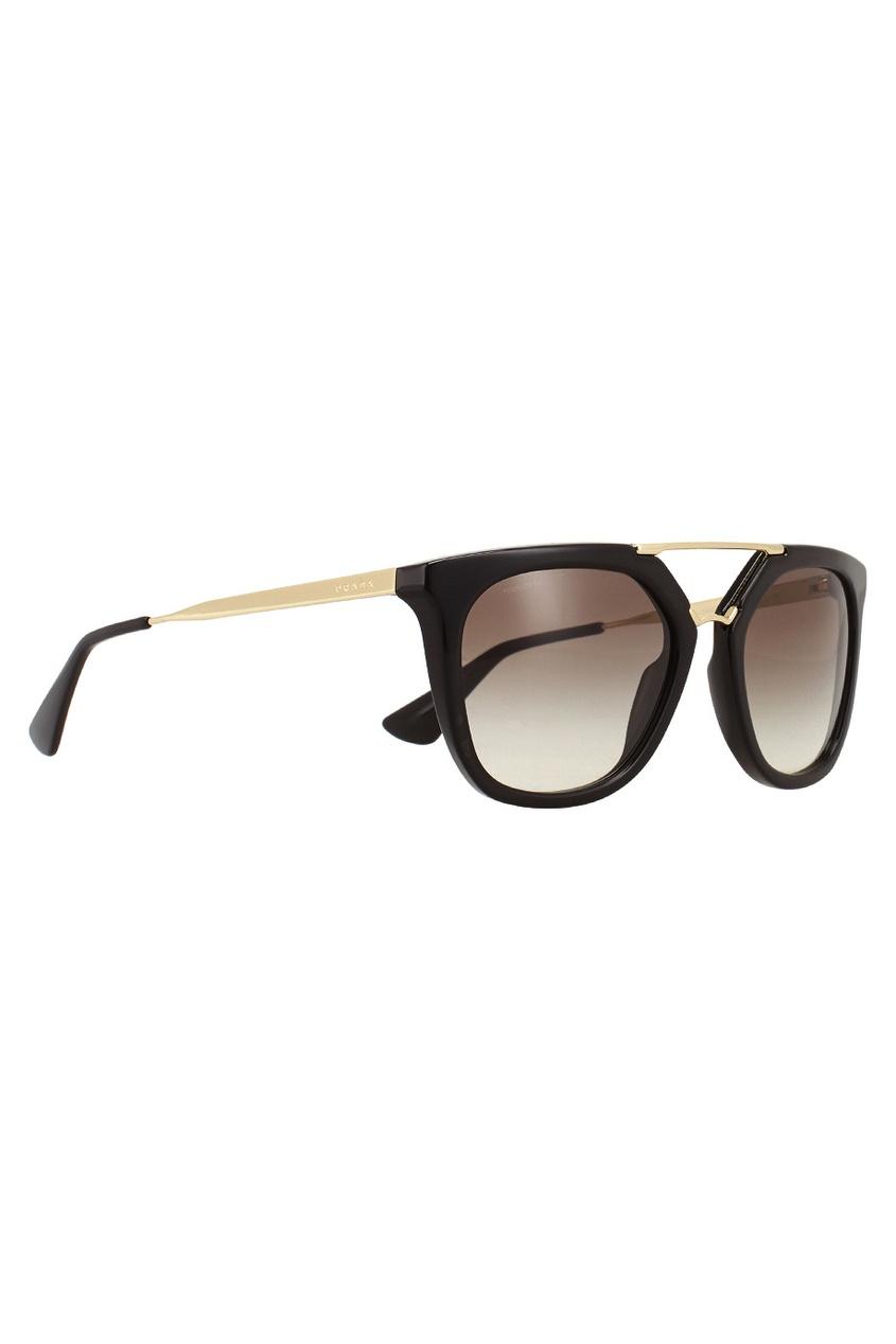 Prada Солнцезащитные очки vogue vogel очки черного кадра серебряного покрытия линза мода полной оправе очки vo5067sd w44s6g 56мм
