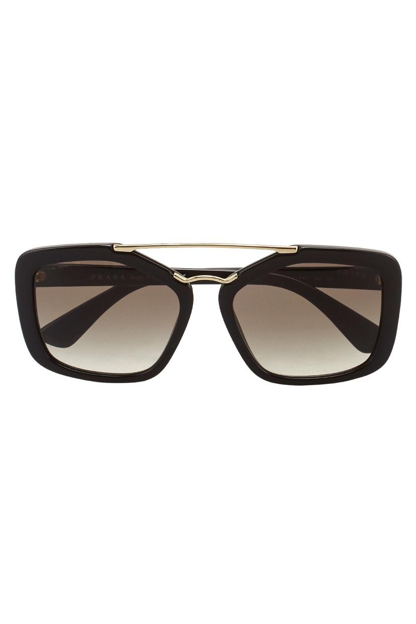 Prada Cолнцезащитные очки нож удар ст 65х13 в чехле