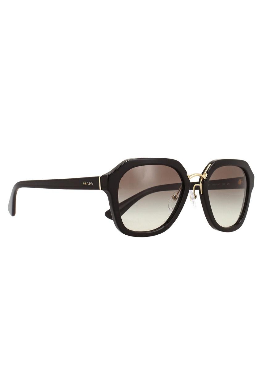 Prada Cолнцезащитные очки vogue vogel очки черного кадра серебряного покрытия линза мода полной оправе очки vo5067sd w44s6g 56мм