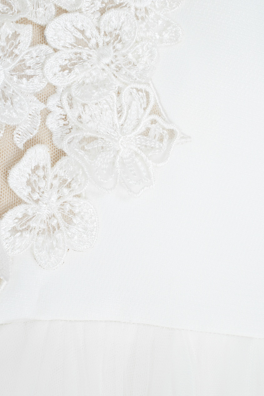 Фото 4 - Платье с вышивкой от Tony Ward белого цвета