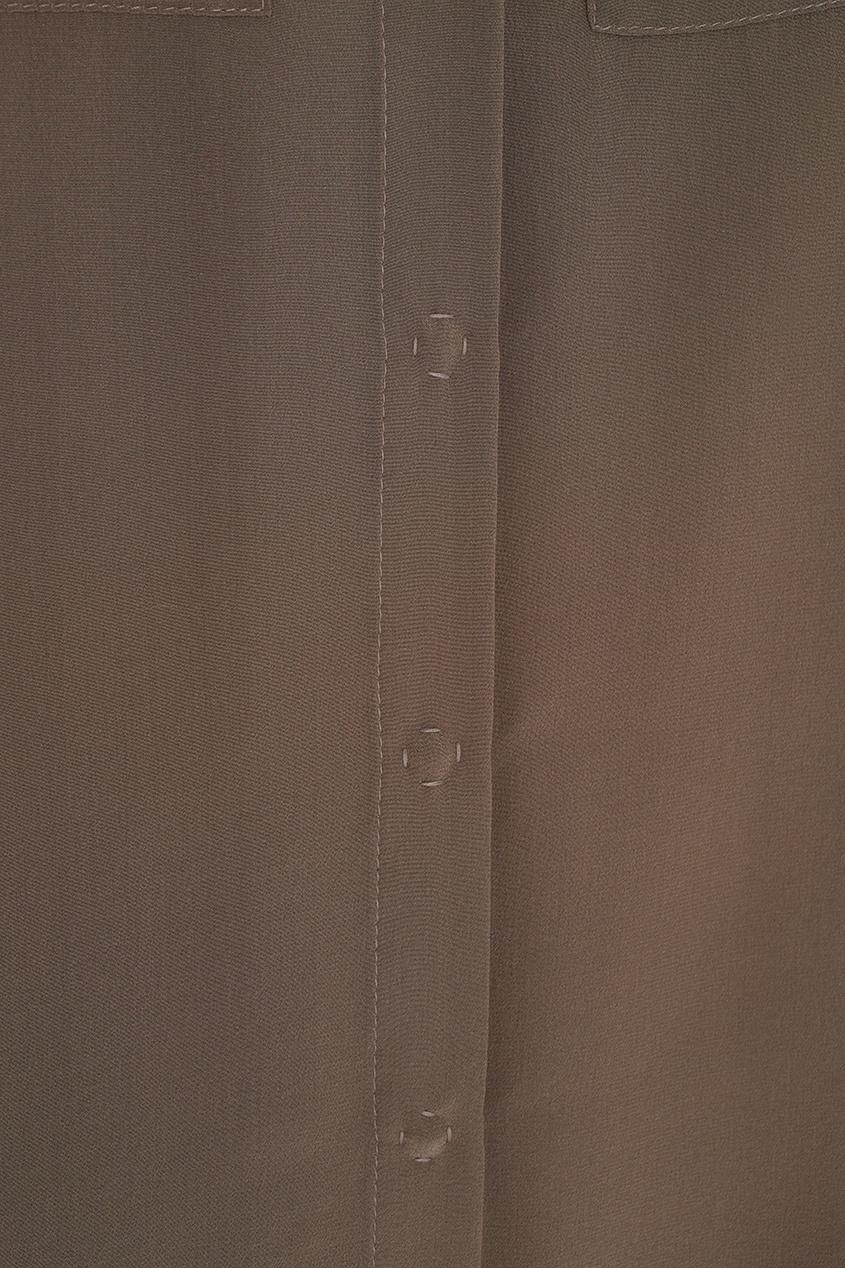 Фото 2 - Шелковая блузка от Alena Akhmadullina бежевого цвета