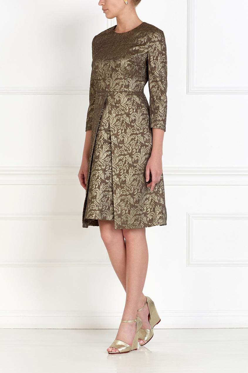 Фото 3 - Платье из жаккарда от Alena Akhmadullina коричневого цвета