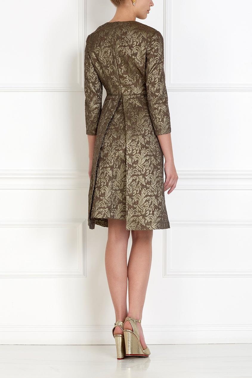 Фото 4 - Платье из жаккарда от Alena Akhmadullina коричневого цвета