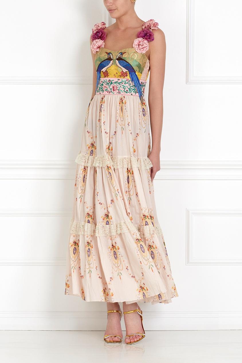 Фото 2 - Шелковое платье от Gucci цвет multicolor