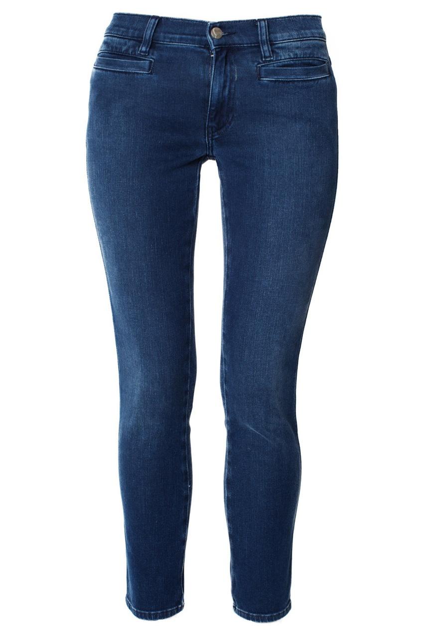 Укороченные темно-синие джинсы Paris