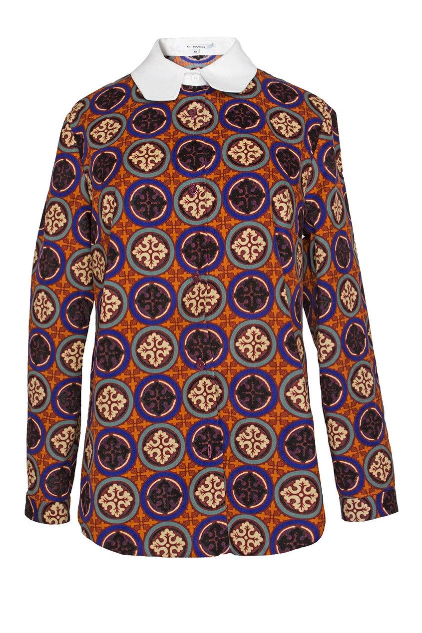 Блуза из хлопка с принтом Carven