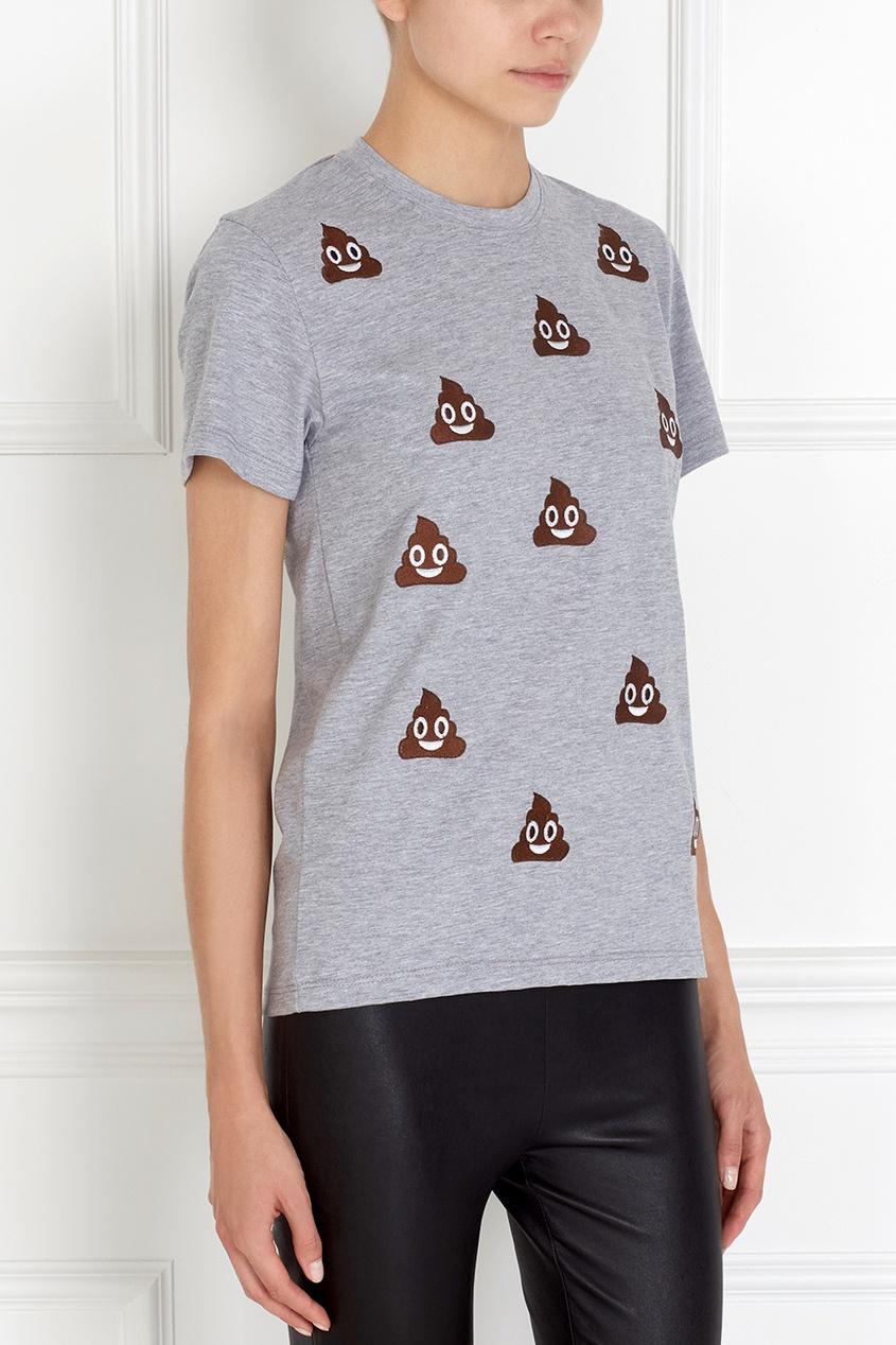 Хлопковая футболка Turds