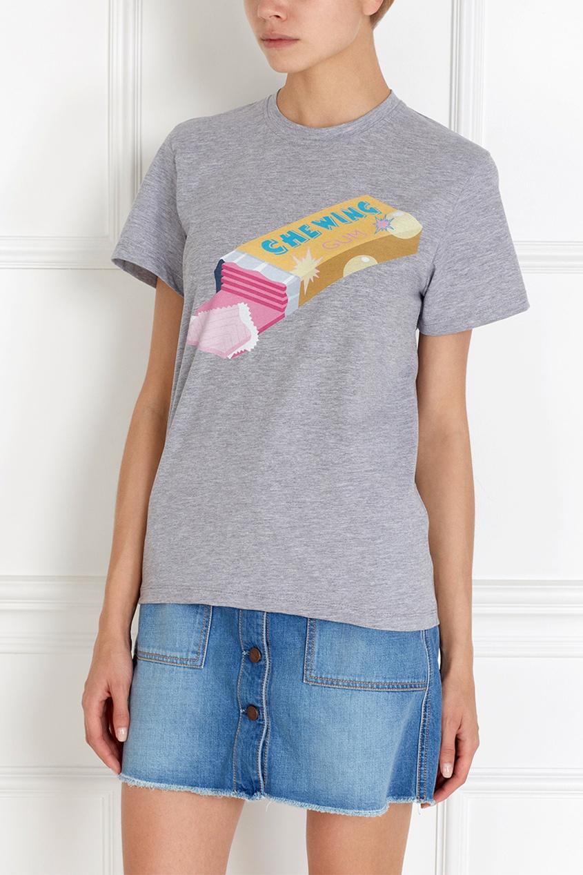 Хлопковая футболка Bubblegum