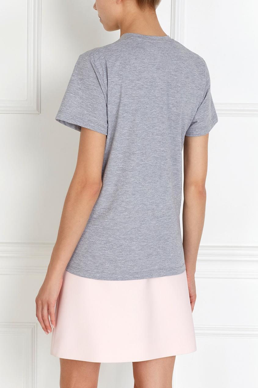 Фото 4 - Хлопковая футболка Icecream от Candyshop серого цвета
