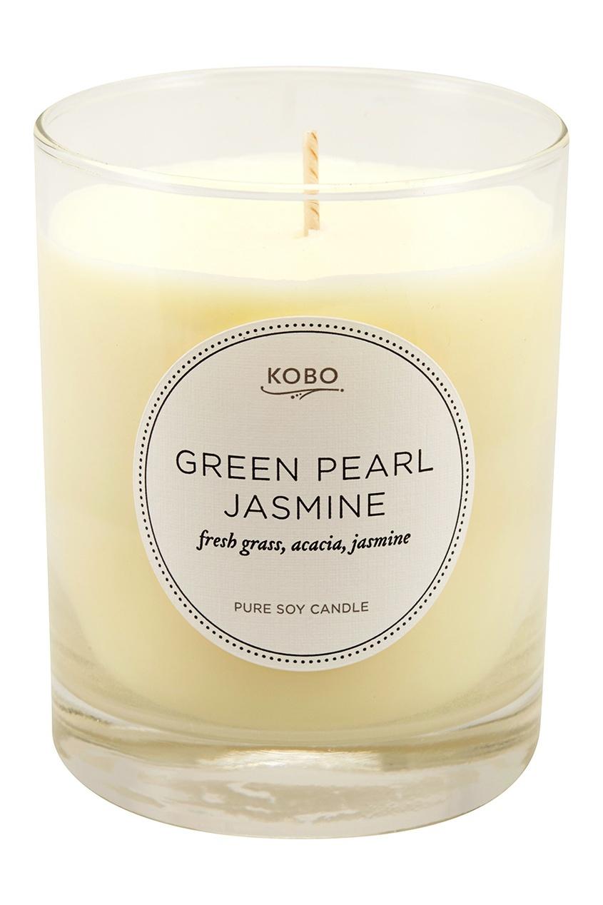 Kobo Candles Ароматическая свеча Green Pearl Jasmine, 312гр.