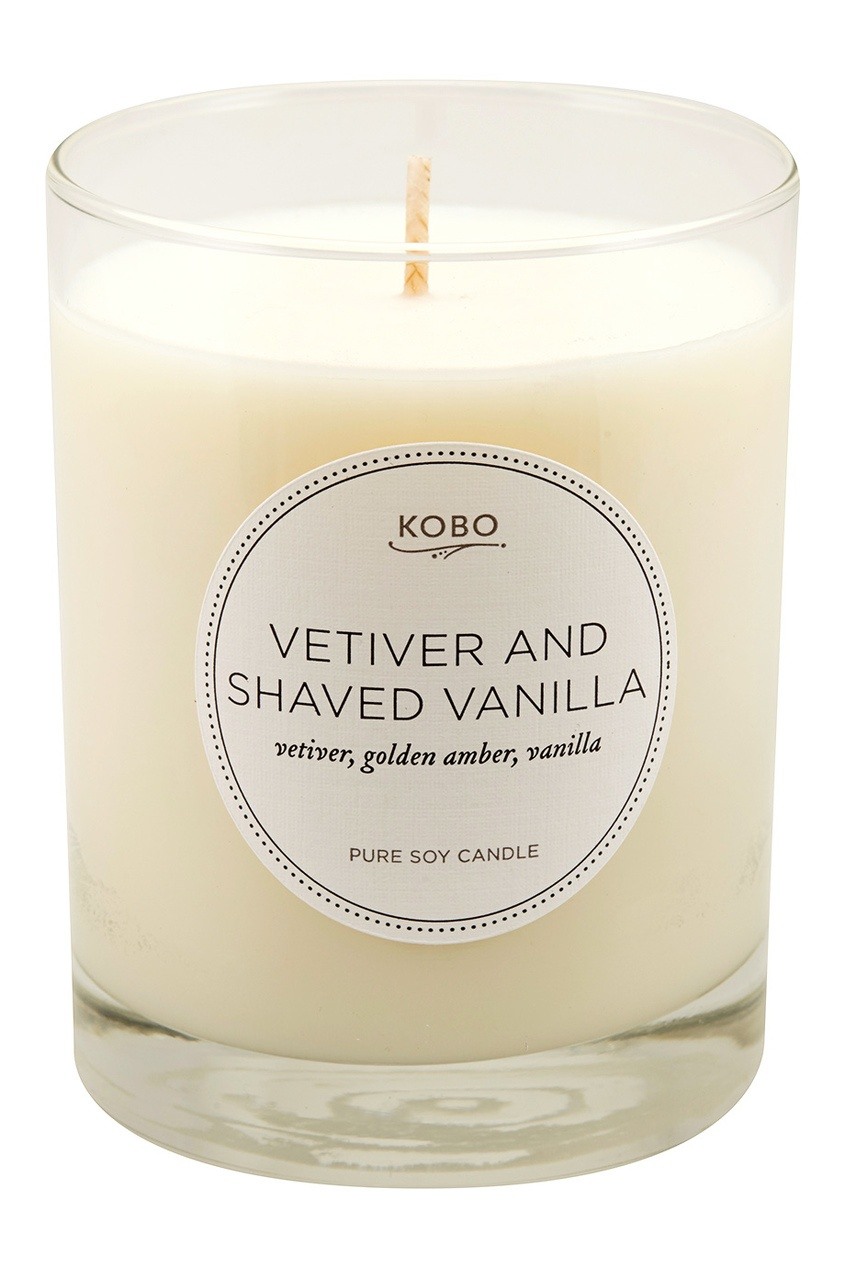 Kobo Candles Ароматическая свеча Vetiver And Shaved Vanilla, 312гр.