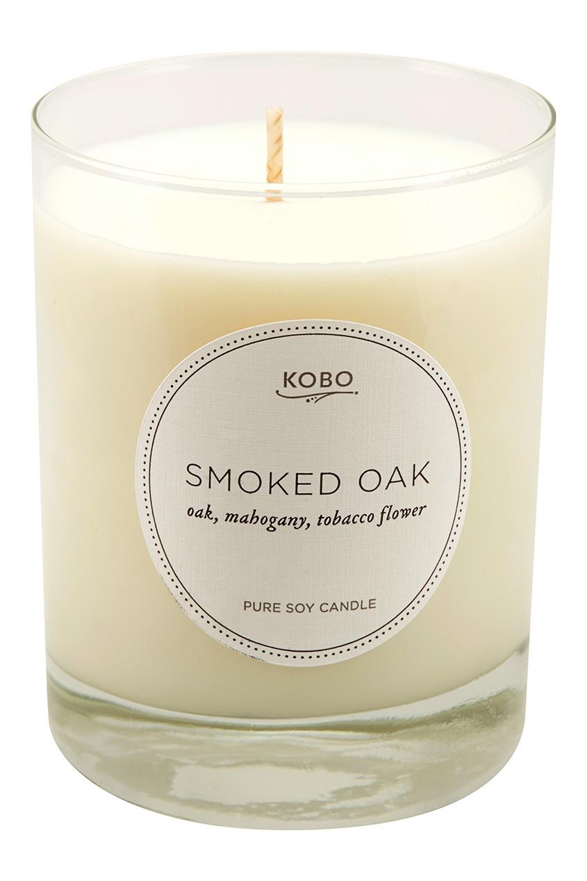 Kobo Candles Ароматическая свеча Smoked Oak, 312гр.