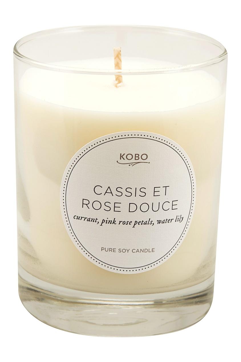 Kobo Candles Ароматическая свеча Cassis Et Rose Douce, 312гр.
