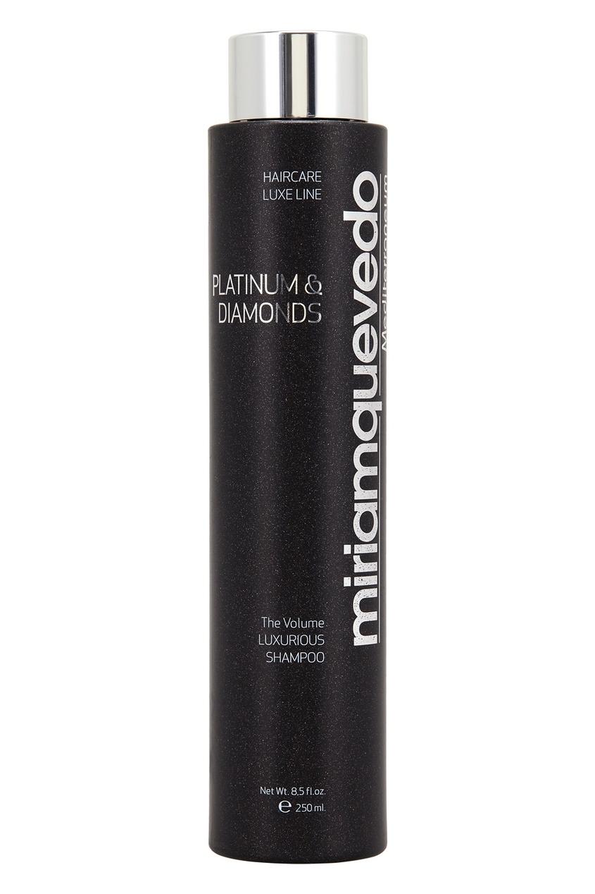 Miriamquevedo Бриллиантовый шампунь-люкс с платиной The Platinum & Diamonds Luxurious, 250ml miriamquevedo бриллиантовая сыворотка с платиной platinum