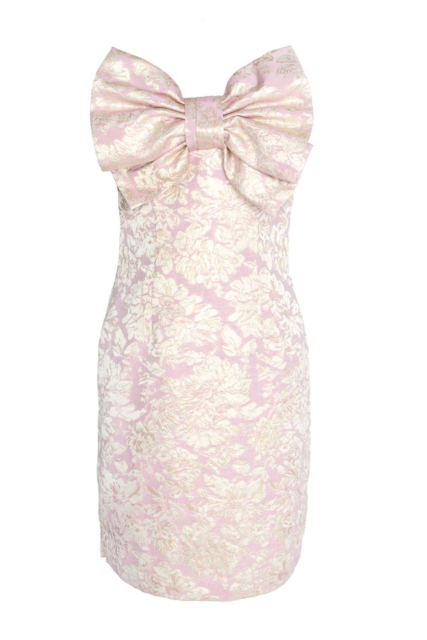 Платье-бюстье с декоративным бантом