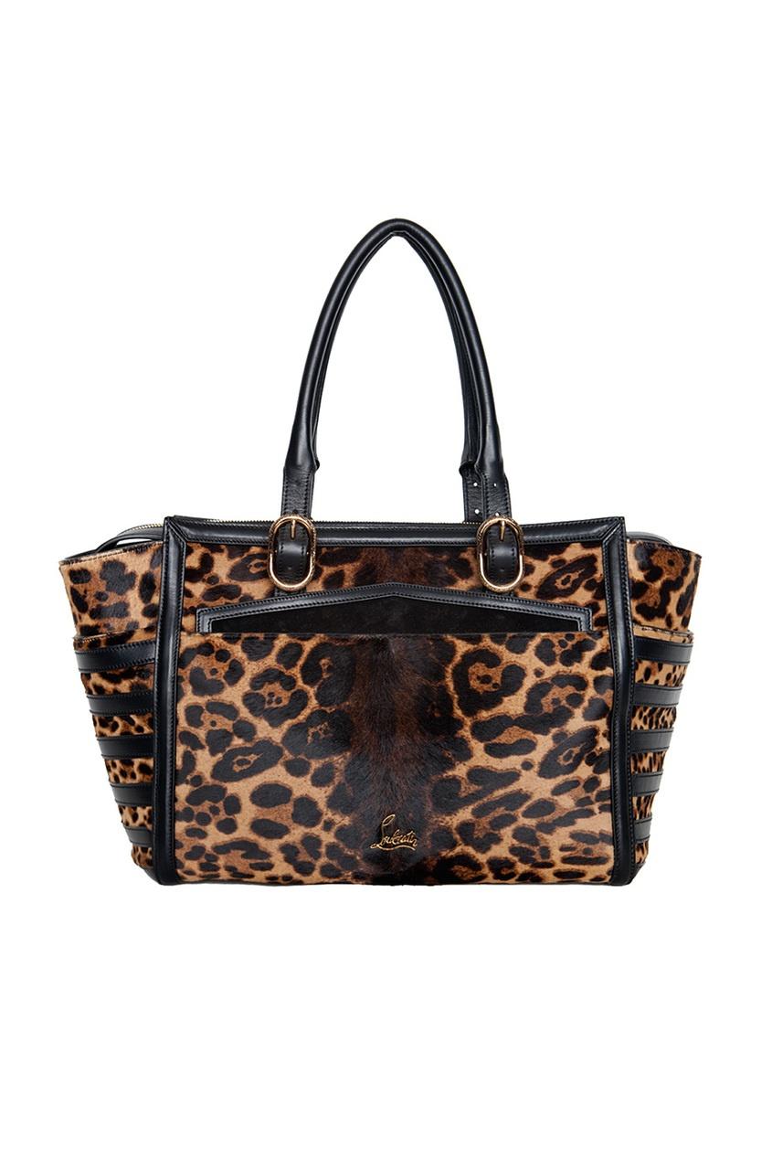 Сумка Farida Bowler Pony Leopard Luxor/Calf Paris