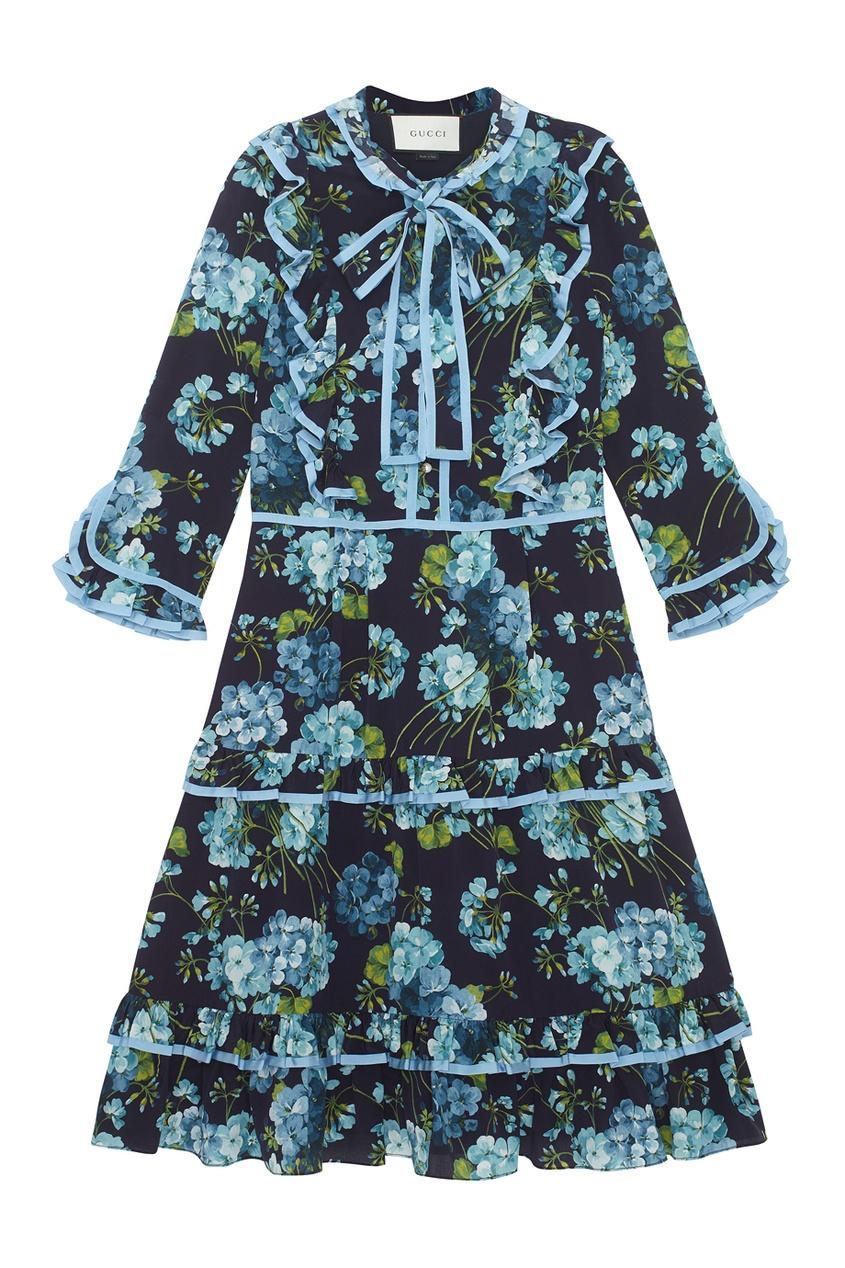 Gucci Шелковое платье