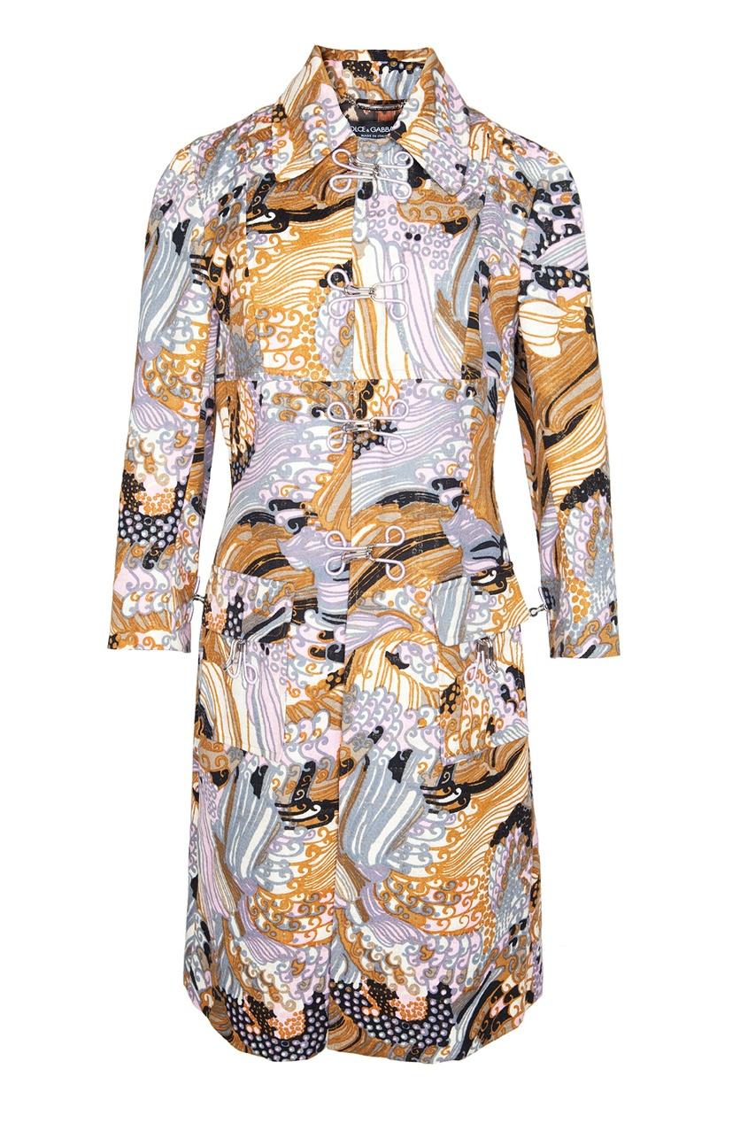 Платье с восточным принтом