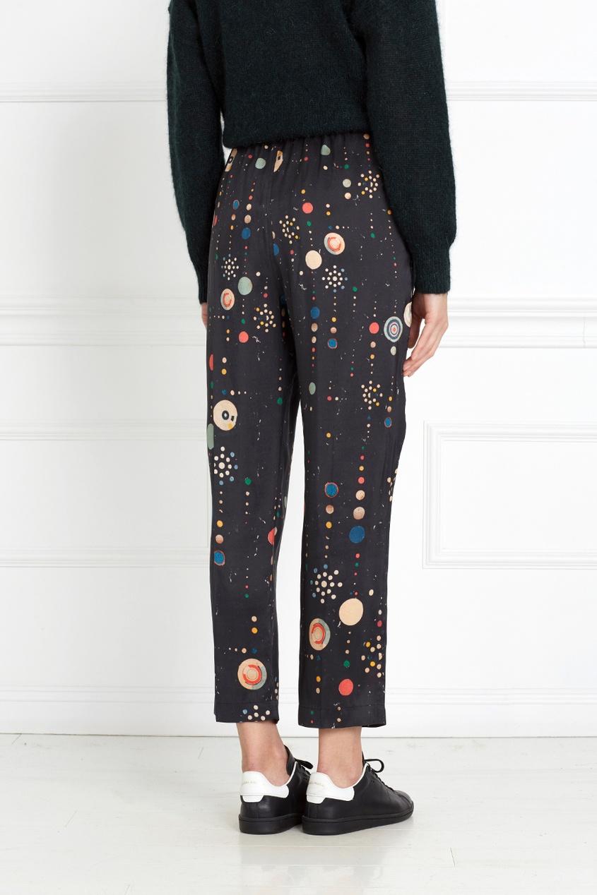 Isabel Marant Шелковые брюки Oya с принтом