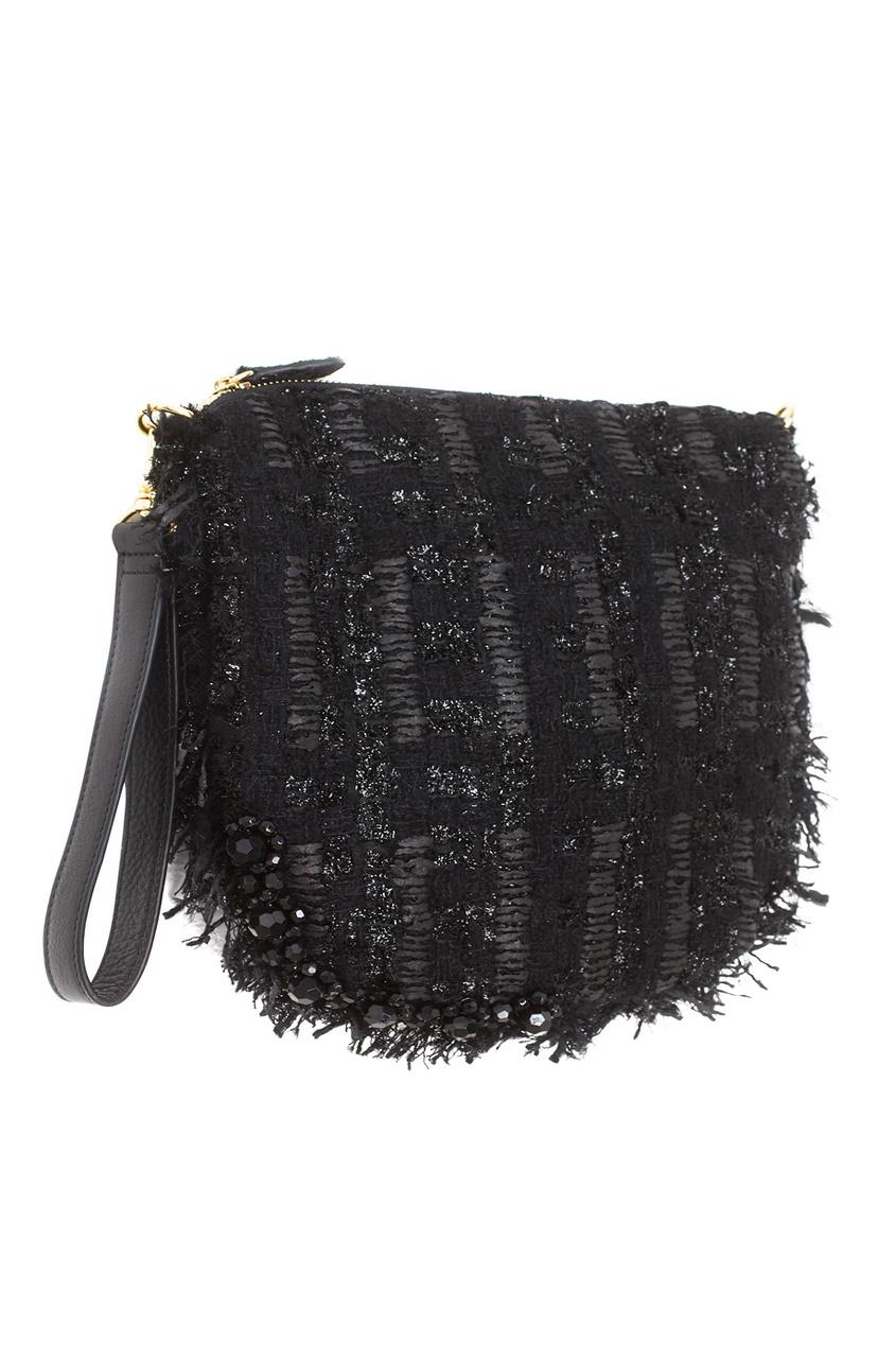 Фото 2 - Однотонная сумка от Simone Rocha черного цвета