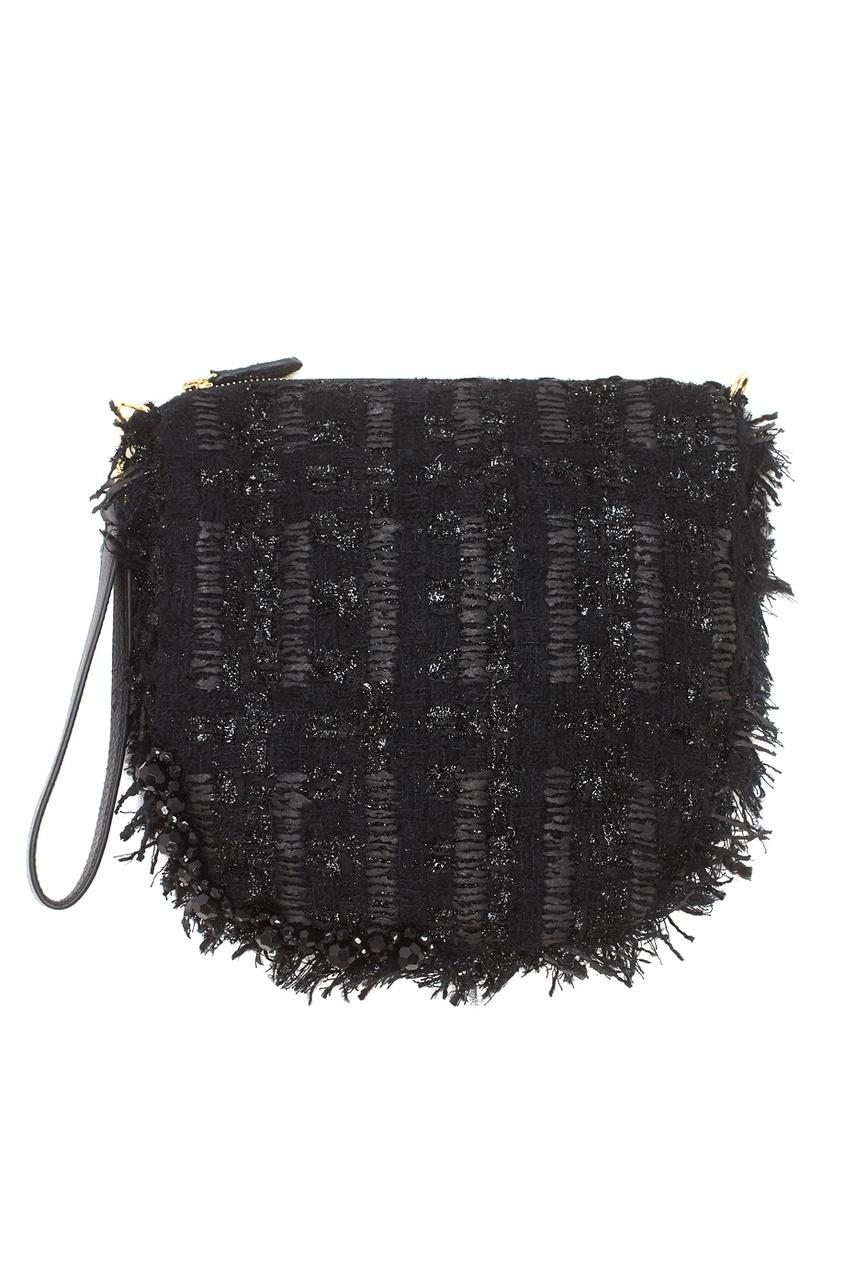 Фото 3 - Однотонная сумка от Simone Rocha черного цвета