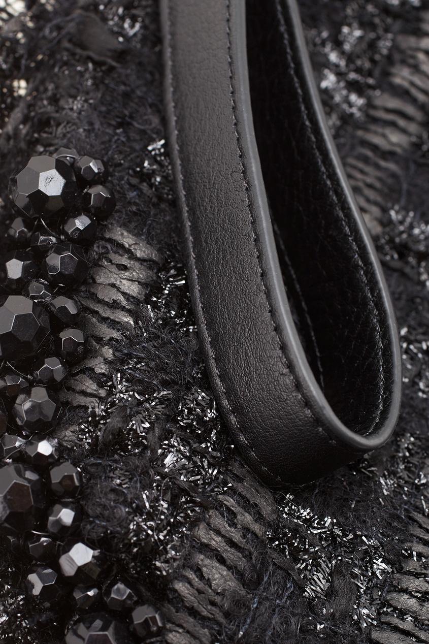 Фото 4 - Однотонная сумка от Simone Rocha черного цвета