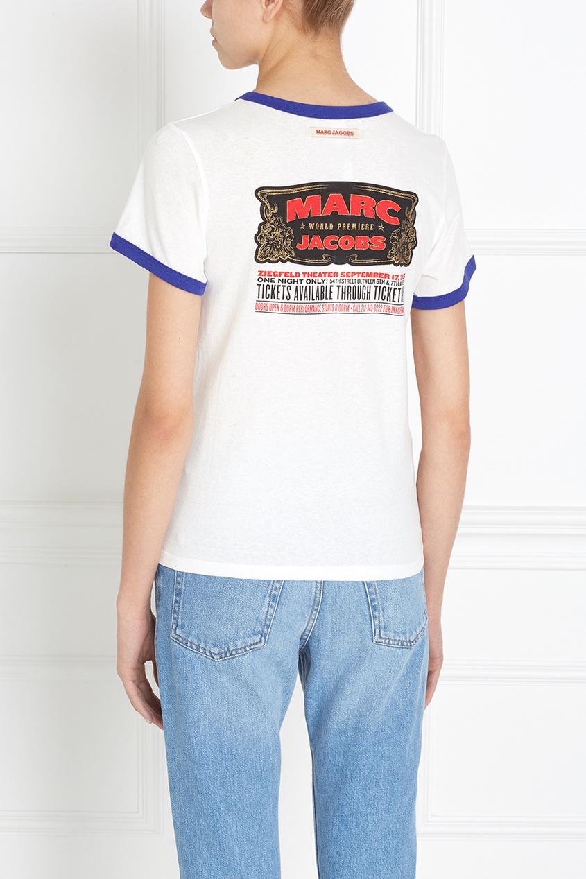 Marc Jacobs Хлопковый топ с принтом