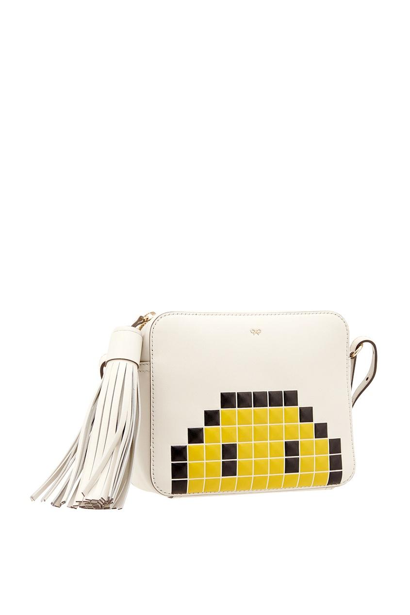Кожаная сумка Pixel Smiley