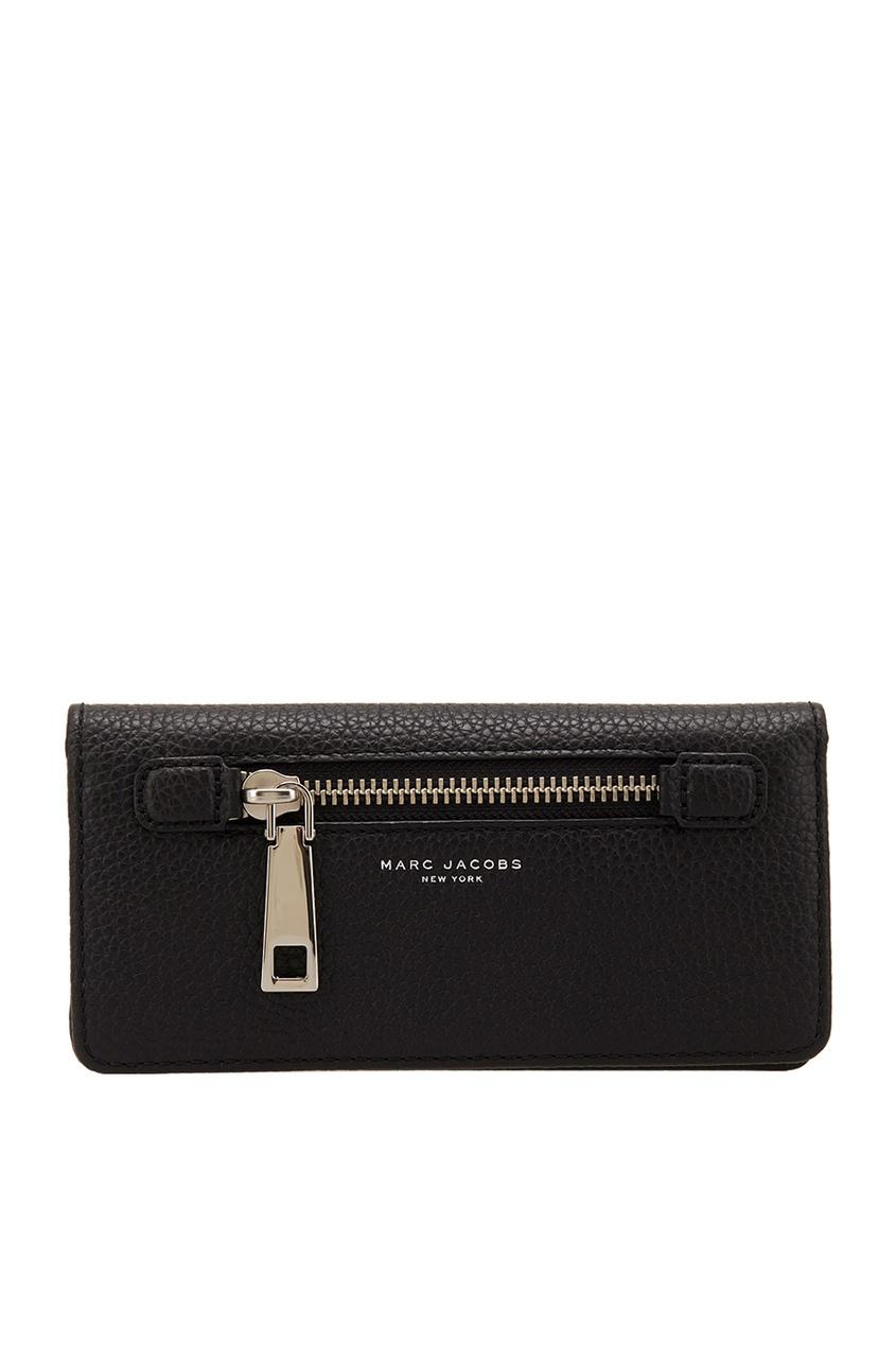 Фото 2 - Кожаный кошелек от The Marc Jacobs черного цвета