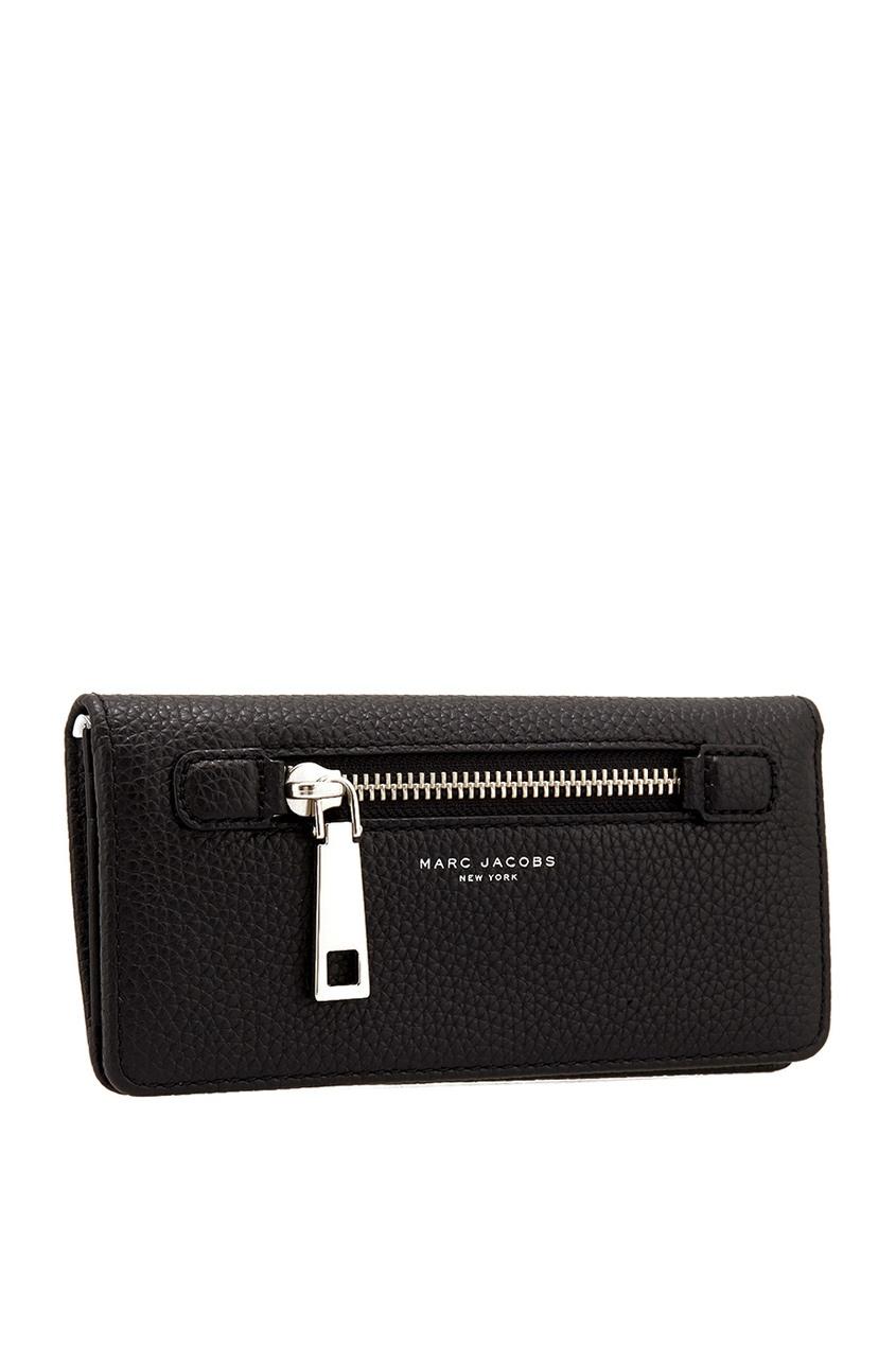 Фото 3 - Кожаный кошелек от The Marc Jacobs черного цвета