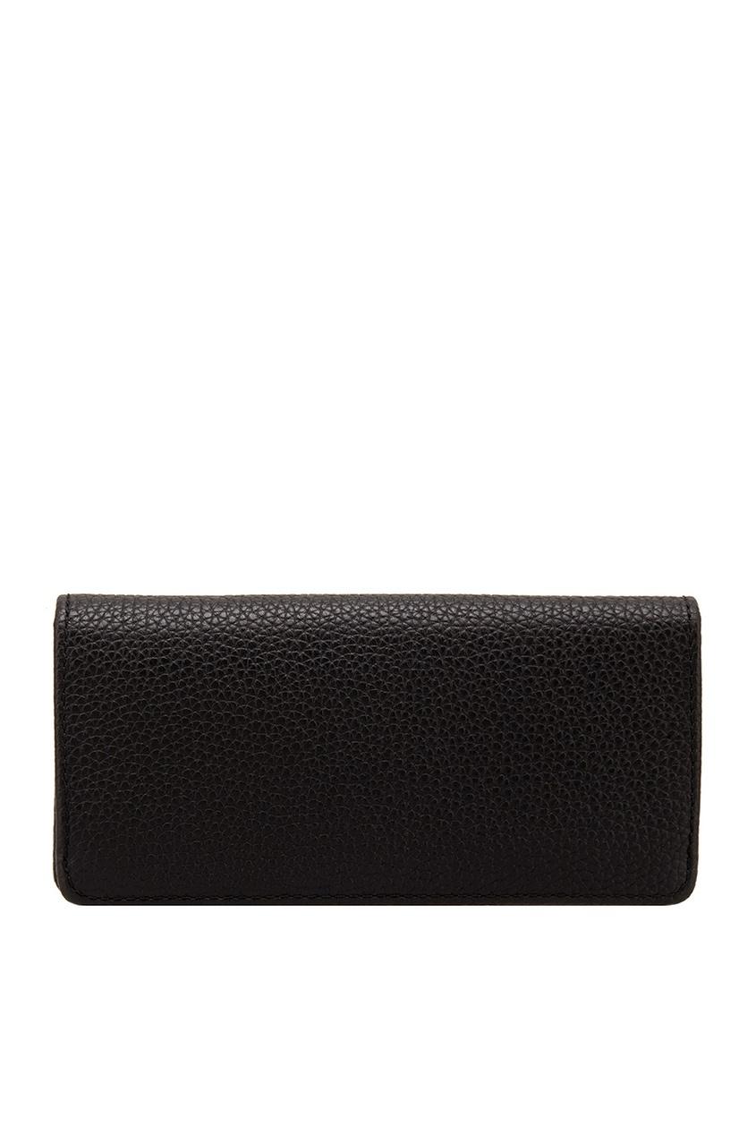 Фото 4 - Кожаный кошелек от The Marc Jacobs черного цвета