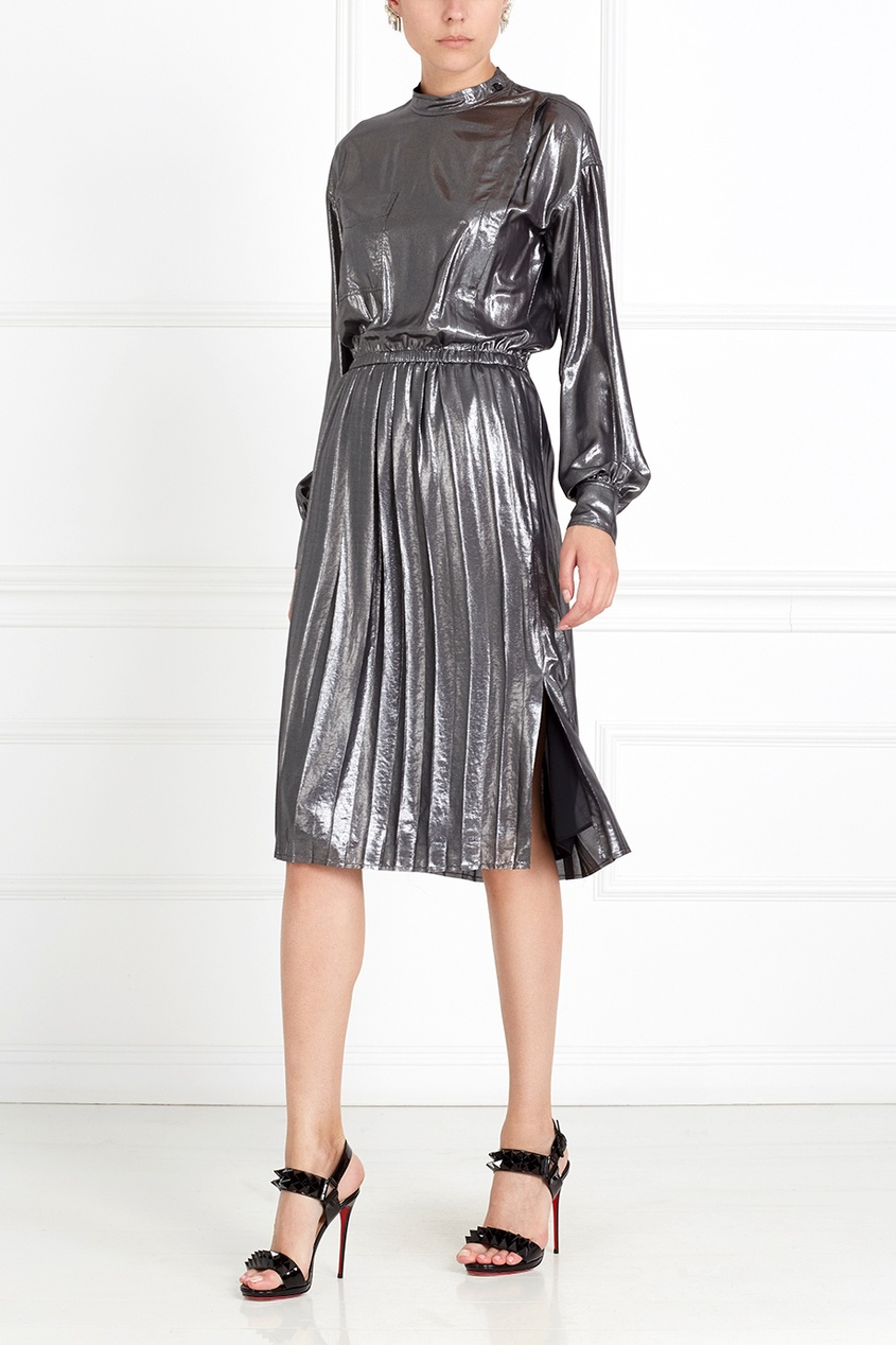 Платье Mae с металлизированным эффектом