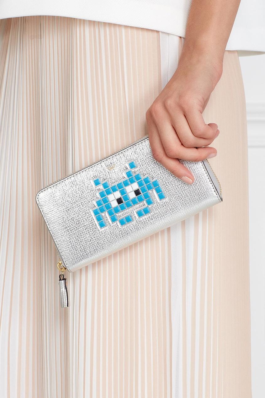 Кожаный кошелек Space Invader