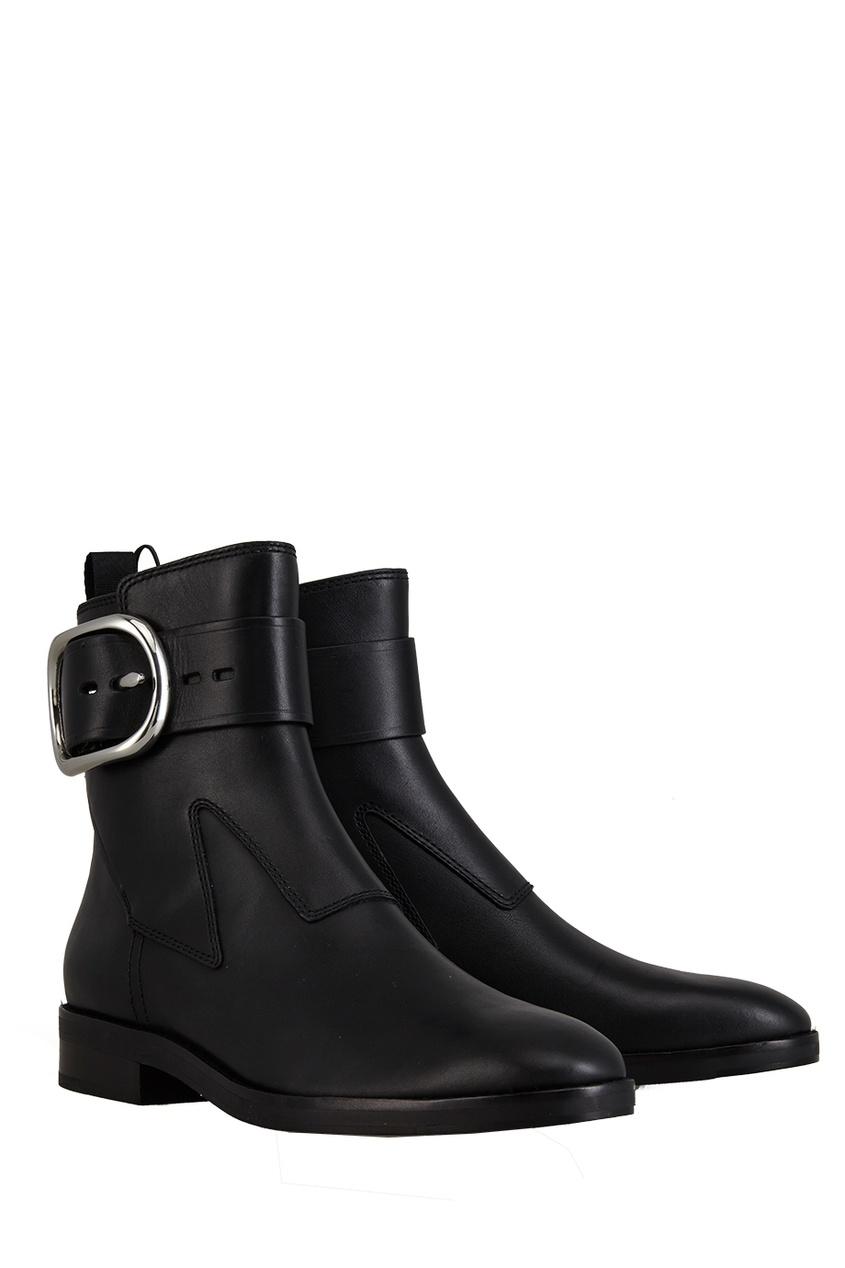 Фото - Кожаные ботинки от Alexander Wang черного цвета