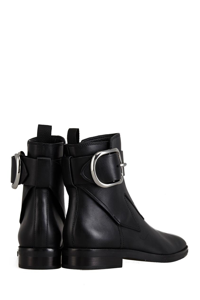 Фото 2 - Кожаные ботинки от Alexander Wang черного цвета