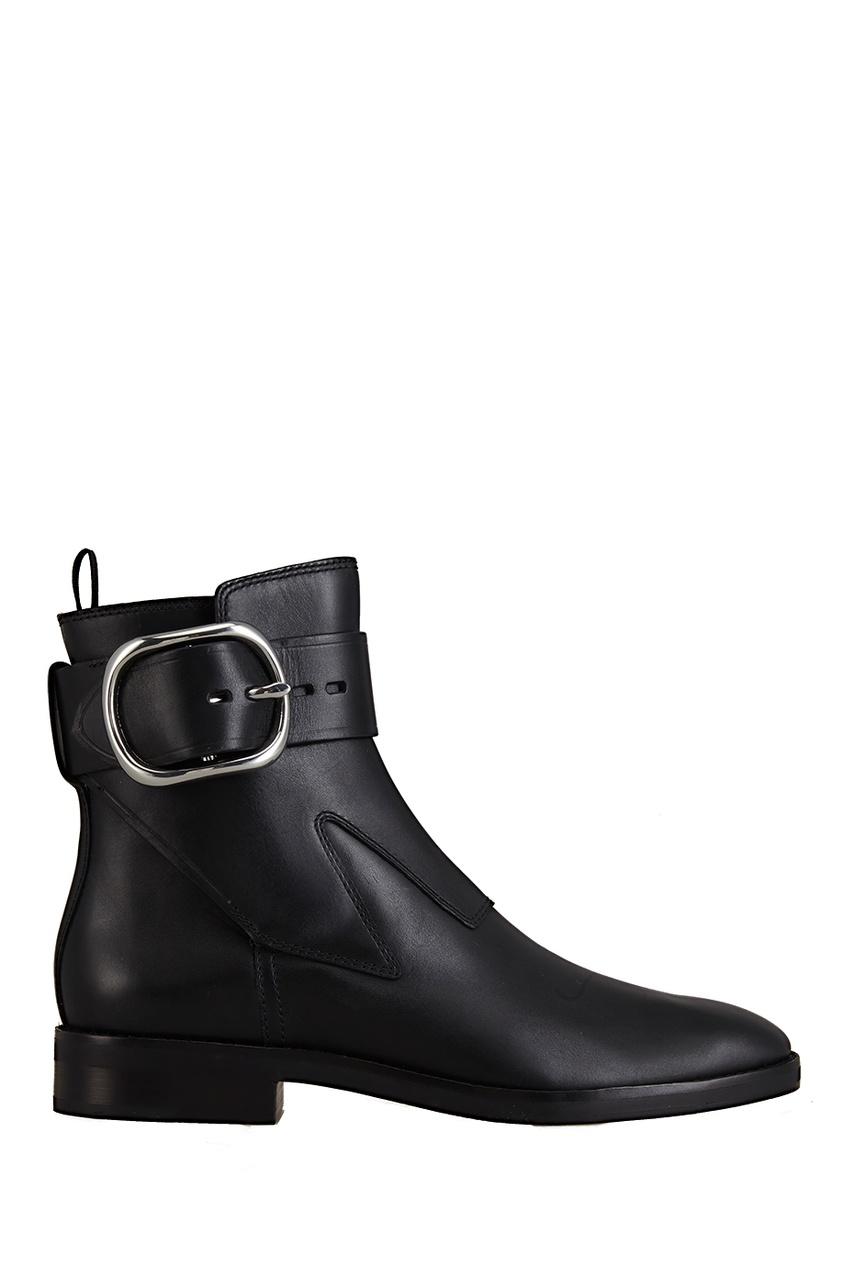 Фото 5 - Кожаные ботинки от Alexander Wang черного цвета