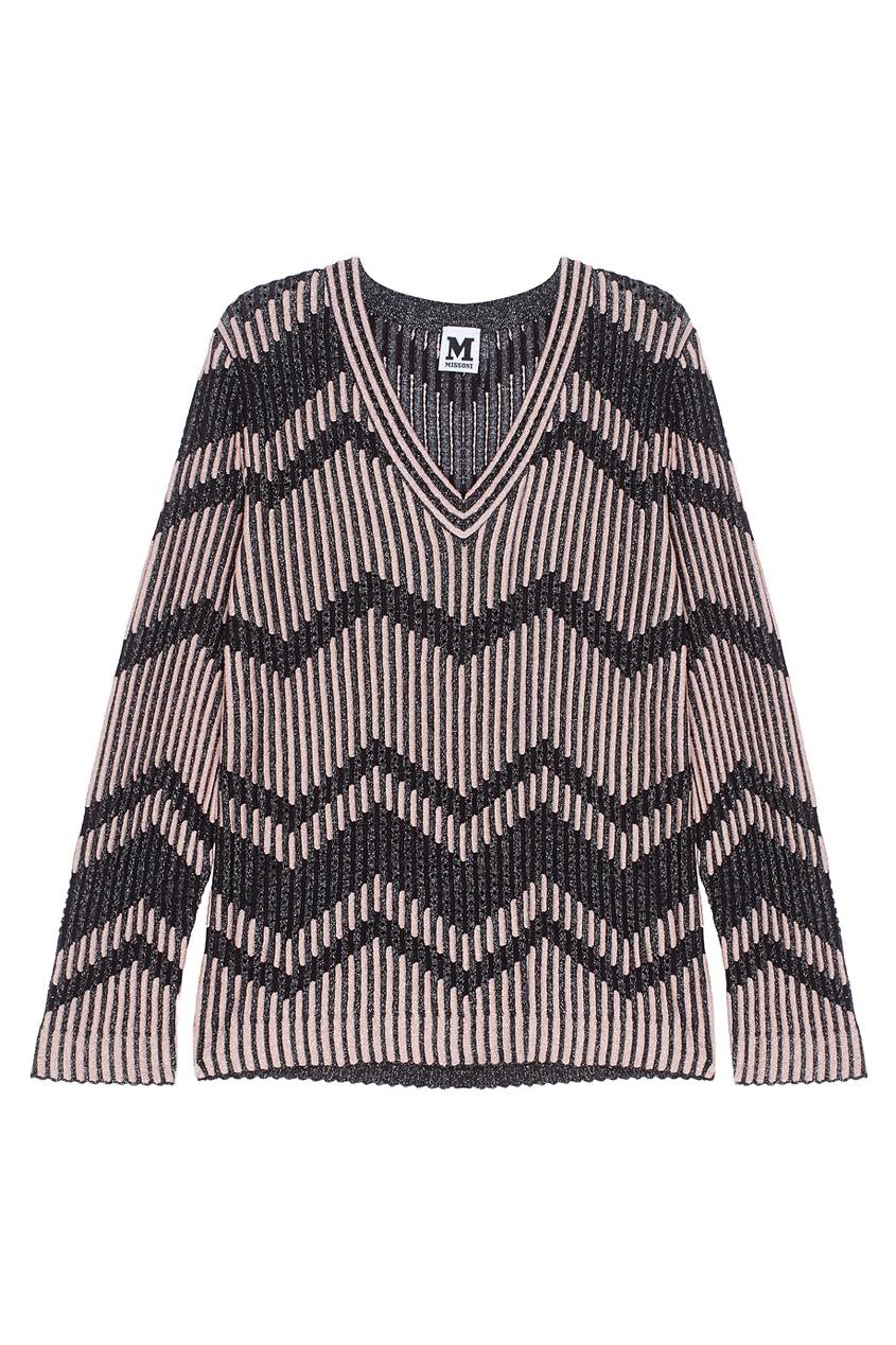 Пуловер с люрексом