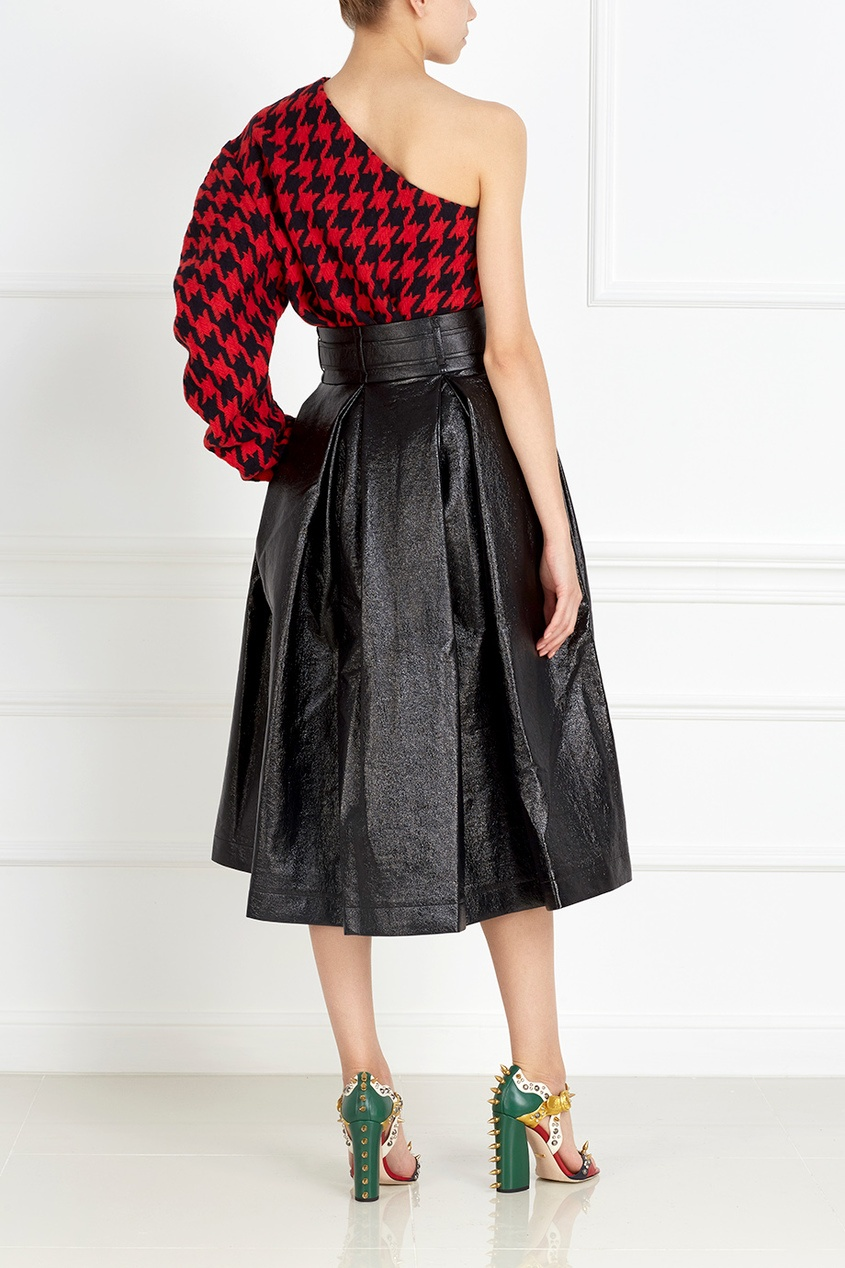 Шерстяной пуловер Black Bunny One-Sleeve